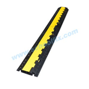 Part No. CD240 Black/Yellow 2-Channel Rigid Cord Cover