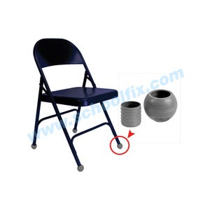 2-Piece Q-Ball Chair Glides with Felt Floor Savers