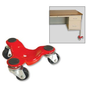 All Steel 3 Wheel Mover, 75 lb. Capacity