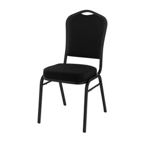 Silhouette Stack Chair Black Fabric Black Frame