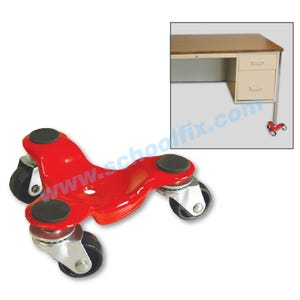 All Steel 3-Wheel Mover 250lb Capacity Furniture Movers 53MJ