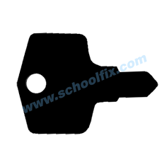 Janitorial Key Stamped Steel L61