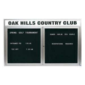 Indoor Letter Board Display Cabinet with School Name B43624, B43648, B43660, B43672, B44836