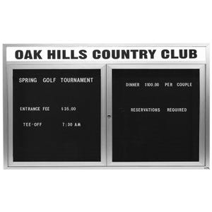 Outdoor Letter Board Display Cabinet with School Name B43624, B43648, B43660, B43672, B44836