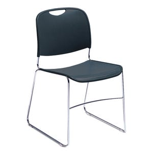 Comfort Stack Chairs Sled Leg Steel Frame Cafeteria Stack Chairs ELT18