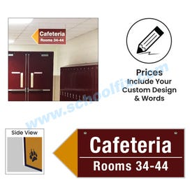 Corrugated Plastic Pointer Style Ceiling Hung Signs