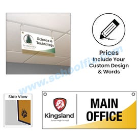 Double Sided Ceiling Hung Custom Plastic Sign CH6D