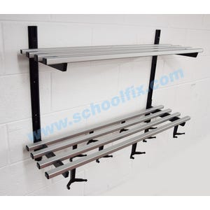 Double Shelf Hook Style Coat Rack