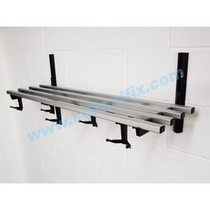 Single Shelf Hook Style Coat Rack