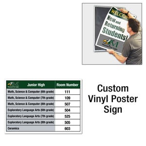 16in High Custom Printed Interchangeable Vinyl Sign for Display Frame D414P