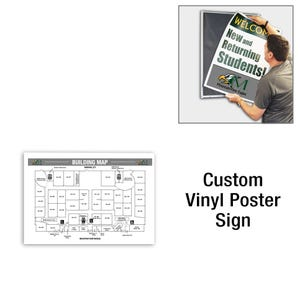 11in High Custom Printed Interchangeable Vinyl Sign for Display Frame D415P