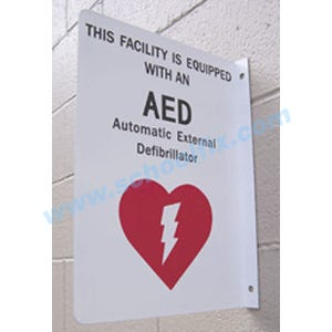 Defibrillator AED 2-Way Sign