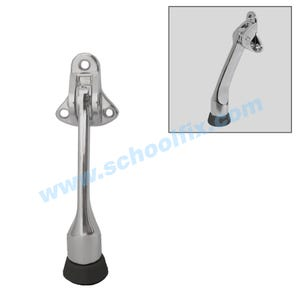 4in Chrome Finish Kick Down Door Holder Door Stopper DH125