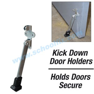 Super Duty 5in Kick Down Door Holder Steel Door Stopper with Rubber Shoe DH505