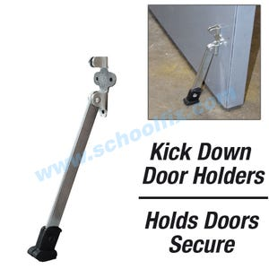 Super Duty 8in Kick Down Door Holder Steel Door Stopper with Rubber Shoe DH508