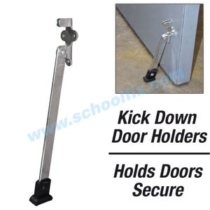 Super Duty 10in Kick Down Door Holder Steel Door Stopper with Rubber Shoe DH510