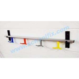 Double Coat Hooks Rail Style Coat Rack with Square Tubing