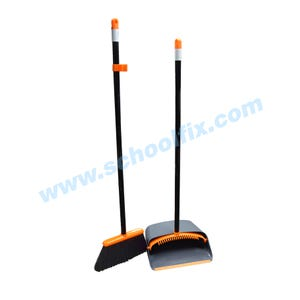 Heavy Duty Broom and Dustpan Combo With Aluminum Handles Part No. DPB48