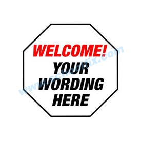 Welcome/Your Wording Static Cling Dor DS2