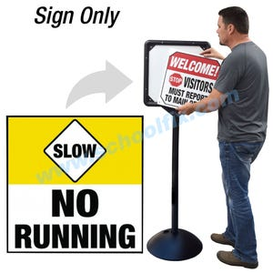 Slow No Running Sign for DS7