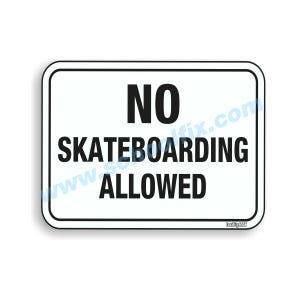 18in.x 12in. No Skateboarding Allowed Aluminum Sign Part No. E41