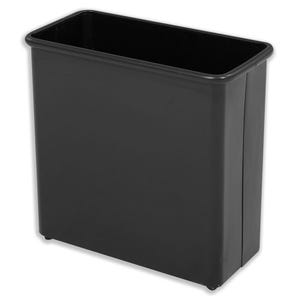 Fire Safe Waste Basket Round All Metal Trash Cans with Vinyl Bumper Top