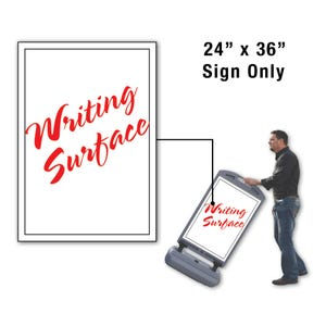 24in x 36in Dry Erase Surface Sign Only for FS300 Stanchion FS302