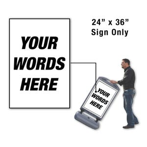 24in x 36in Custom Message Sign Only for FS300 Stanchion FS304