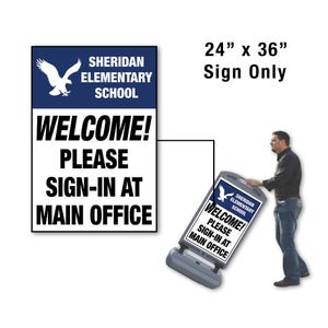 24in x 36in Welcome Semi Custom Sign Only for FS300 Stanchion FS308