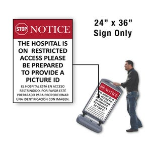 24in x 36in Please Pull Forward Sign Only for FS300 Stanchion FS336