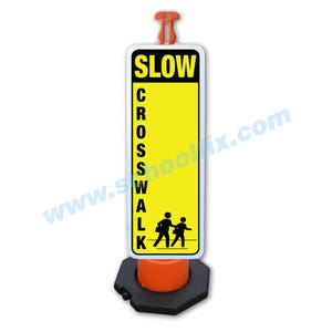 Slow Crosswalk 48in. High Reflective Sign & Post Kit Part No. FS828 FS826