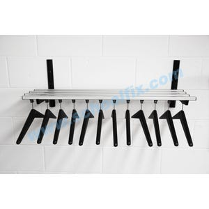 Single Shelf Hanger Style Coat Rack