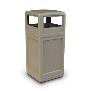 Indoor Outdoor 42 Gallon Capacity Trash Can with Dome Lid