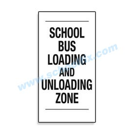 Interchangeable Magnetic Sign School Bus Loading & Unloading Zone
