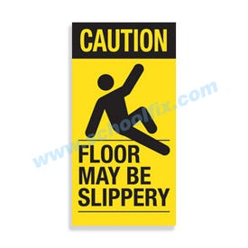 Interchangeable Magnetic Sign Caution Floor May Be Slippery