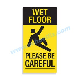 Interchangeable Magnetic Sign Wet Floor Please Be Careful