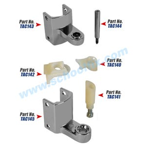 Hinge Kit to fit Accurate Metal Partitions