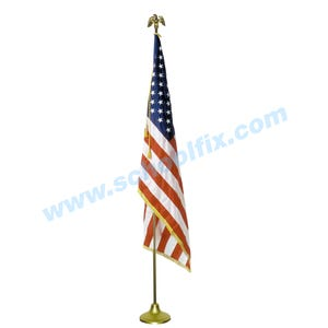 2 X 3 Foot U.S. Flag Display Set