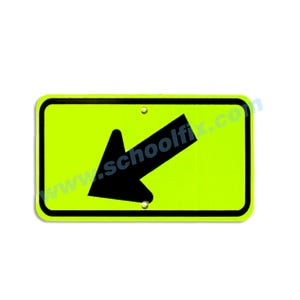 24in. x 12in. MUTCD Compliant Downward Diagonal Left Arrow Part No. MC44