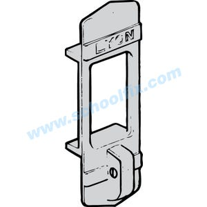 Part No. LL40123 Lyon Die Cast Recessed Handle With Padlock Hasp