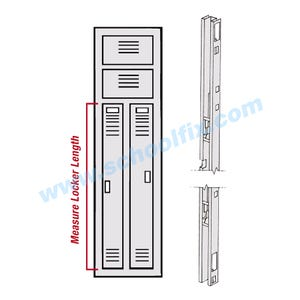 Republic Locker Parts Lockbar for 2 Person Locker Lower Left Hand Door LR805