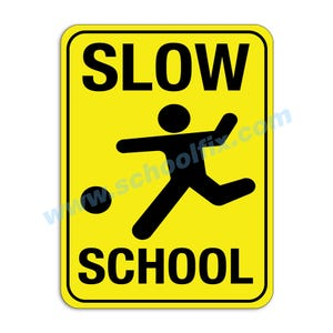 Slow School Children Playing Aluminum Sign M482 M28