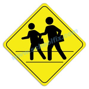 Pedestrian Crossing Aluminum Sign M71 M8