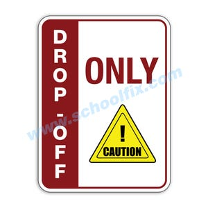 Side Bar Display Drop-Off Only Caution Aluminum Sign M812 M813