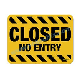 18in. X 24in. Closed No Entry Aluminum Barricade Sign, a product you can find on SchoolFix's catalog of portable indoor & outdoor barricades
