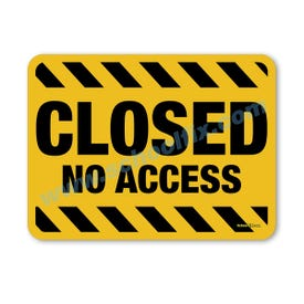 18in. X 24in. Closed No Access Aluminum Barricade Sign, a product you can find on SchoolFix's catalog of portable indoor & outdoor barricades
