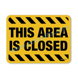 18in. X 24in. This Area Is Closed Aluminum Barricade Sign, a product you can find on SchoolFix's catalog of portable indoor & outdoor barricades
