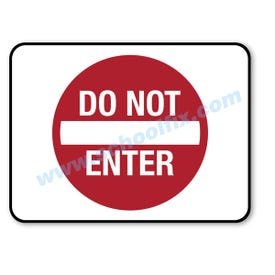 18in. X 24in. Do Not Enter Aluminum Barricade Sign, a product you can find on SchoolFix's catalog of portable indoor & outdoor barricades
