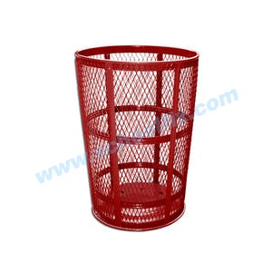 48 Gallon Reinforced Mesh Steel Trash Cans Trash Receptacles without Lid