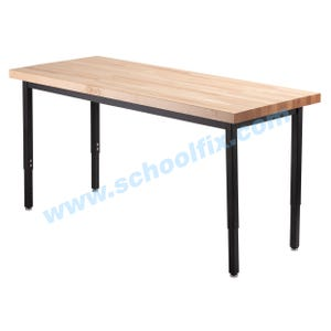 Multi-Purpose Solid Maple Butcher Block Top Tables without Casters